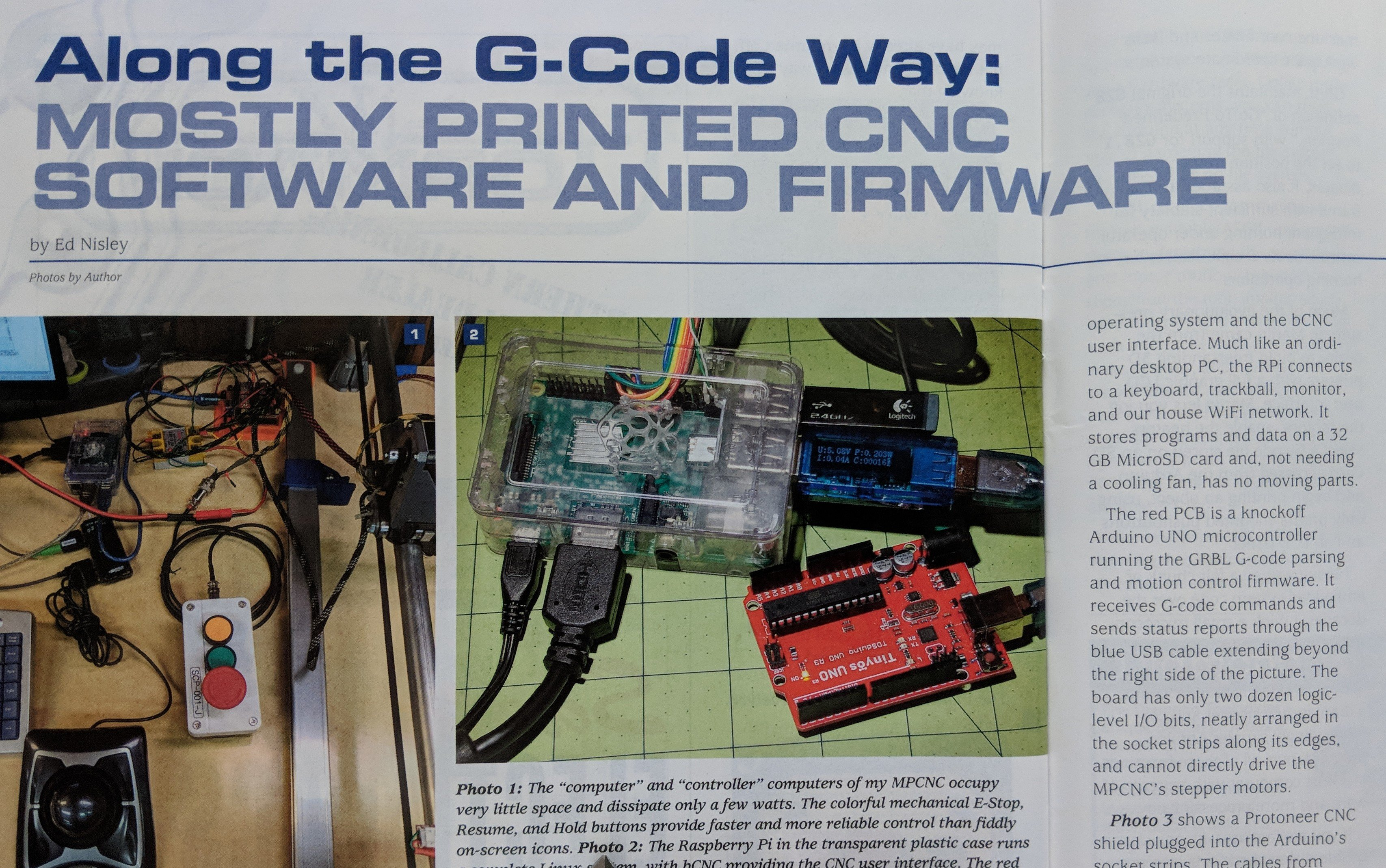 3 New Articles V1 Engineering Small Modifications In Firmware And Schematic Diagram Were Made By A Few Pages Deeper Into The Same Spring 2018 Edition Of Digital Machinist Is Article Tom Matukas My Mostly Printed Cnc Making Progress