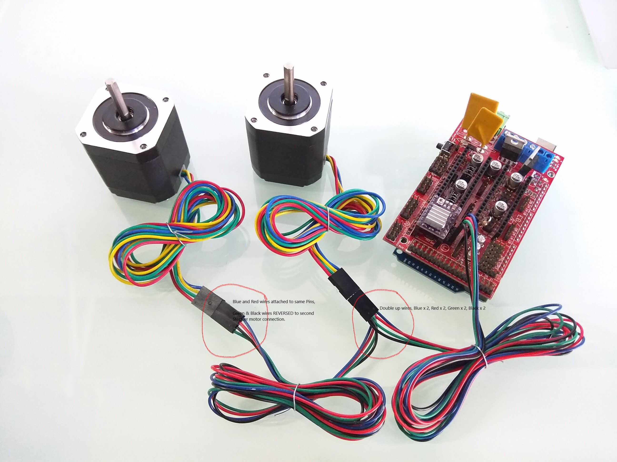 Steppers Connection V1 Engineering Stepper Motor Wiring Series Explained