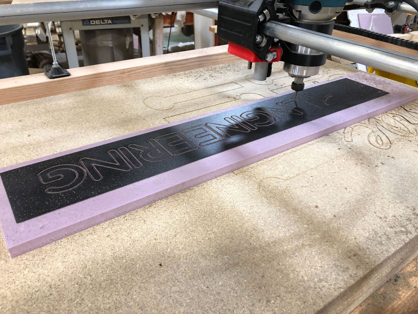cutting laminate inlay